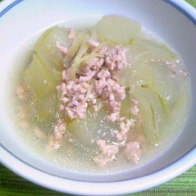 夏のお勧めノンオイルメニュー☆冬瓜と鶏ひき肉のスープ煮☆美味しい給食流!ひじきのサラダ☆