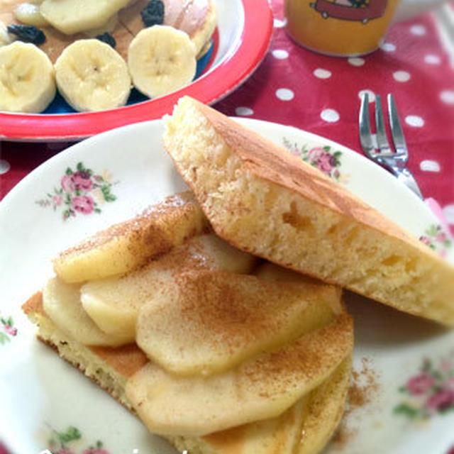 朝ごはんに♪アップルシナモンパンケーキ