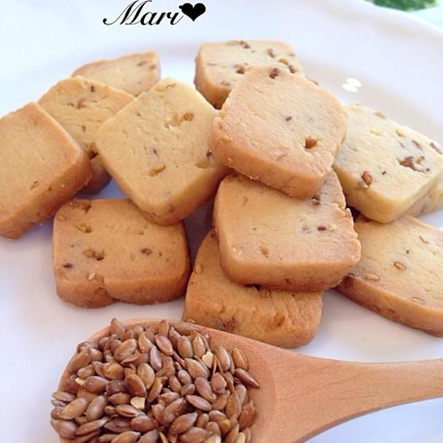 香ばしい♡ローストアマニクッキー