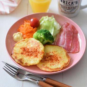 【アメリカ料理】じゃがいものパンケーキ♡GABANスパイスで特別な日のモーニング♪