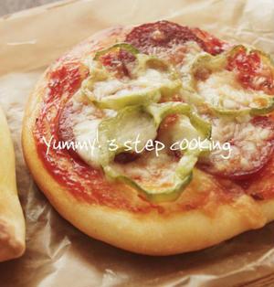 ★レシピ★発酵なし!クイックブレッド生地で作る、クイックピザパン
