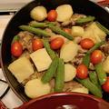 ストウブブレイザーで豚スペアリブの塩ライムバター焼き。