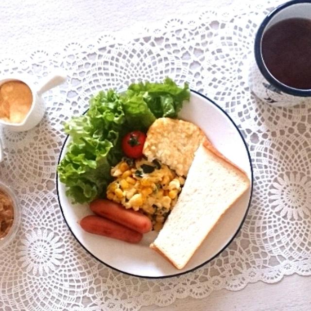 たっぷりチーズスクランブルエッグで朝ごはん~矯正について~