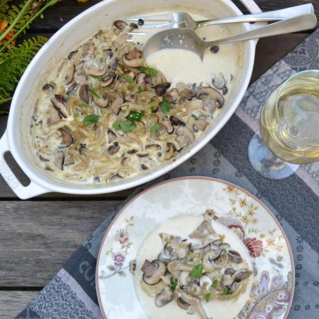 Baked Cod with Mushrooms 鱈の茸のオーブン焼き