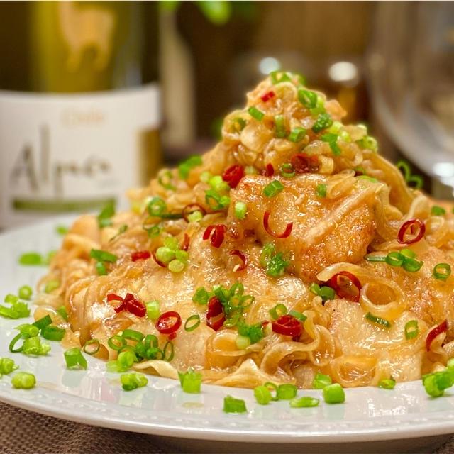 【レシピ】鶏むね肉と新玉ねぎで♬漬けないかんたん南蛮漬け♬