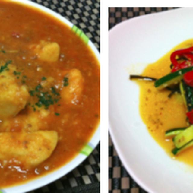 里芋のミートソース煮込み、鶏もも肉の山椒煮、ズッキーニの塩きんぴら