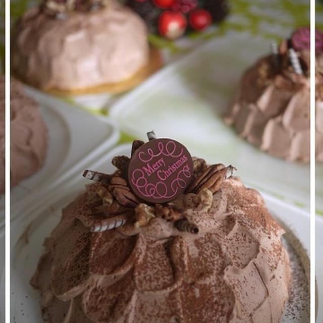 チョコレートクリスマスケーキのレッスン&レシピ♪