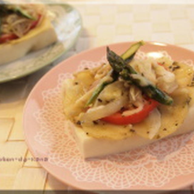 高野豆腐のピザ風♪