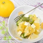 小夏とクリームチーズのマリネ