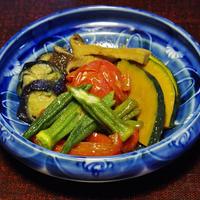 鶏肉のケチャップ煮 と 夏野菜の揚げ浸し