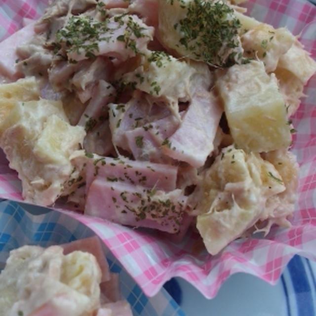 余った天ぷらでツナサラダ