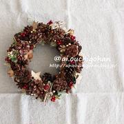 おひさしリースは♡100均材料だけで作ったクリスマスリース♡