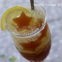 梅酒と紅茶寒天、サクレレモンdeキラキラお星さま☆フローズンカクテル♪
