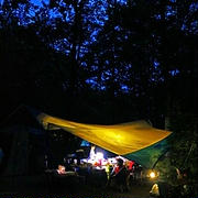 キャンプでこの時間が好きです♪
