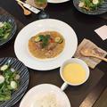 昨日の生徒さん用ランチは~鶏肉と野菜の粒マスタード入りクリーム煮~
