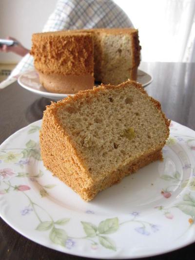 きび砂糖のシフォンケーキ