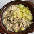 キノコと鶏のチーズキムチ鍋