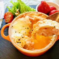 トマトジュースと豆乳で、簡単トマトクリームリゾット