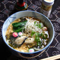 【牡蠣玉うどん】 by peguさん