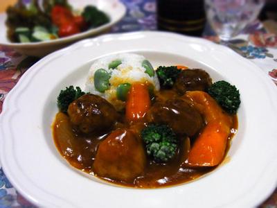 シチュー・ド・ハンバーグ♪ 旬の野菜がたっぷり~♪