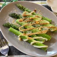 旬を味わう♡アスパラガスのマヨチーズ焼き【#簡単レシピ#時短#節約#おつまみ#トースター】