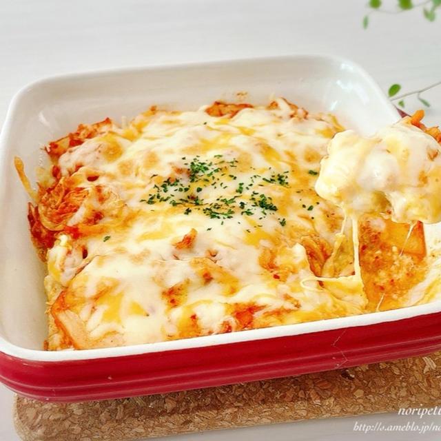 【オートミールレシピ】ほぼ5分‼︎らくウマ♡豆腐キムチドリア