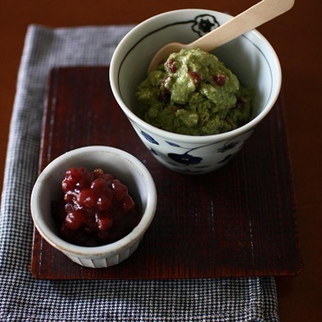 チョッパーで簡単*抹茶と小豆のお豆腐アイス