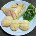 ハモと野菜の天ぷら盛り合わせ
