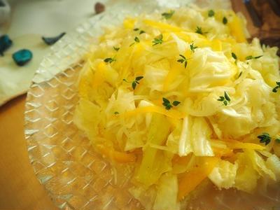 レシピ:キャベツ、玉ねぎ、パプリカのさっぱりレモンサラダ
