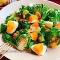 プチヴェールと卵のニンニク炒め(動画レシピ)