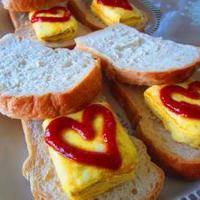 全粒粉食パンで♪厚焼きたまごサンド♪