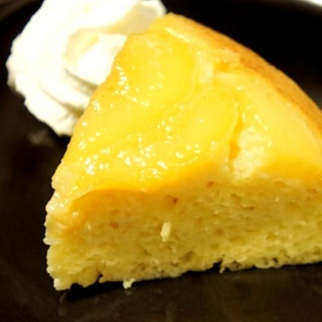 炊飯器であら簡単、ピーチタタンケーキ(桃のアップサイドダウンケーキ)