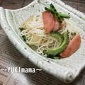 """掲載""""レシピ本「のこそう、お母さんの味」ゴーヤとスパムのそーめんちゃんぷる by YUKImamaさん"""