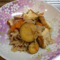 さつま芋と厚揚げと切干大根の含め煮