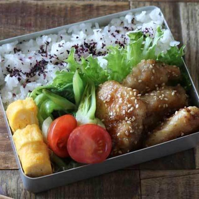 お財布に優しい食材で! 鶏むね肉のごまダレ炒め弁当の作り方
