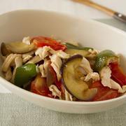 【ココナッツオイル】ささみと焼き野菜のマリネ