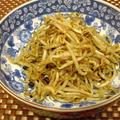 食べるラー油と白すり胡麻でモヤシのお惣菜