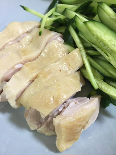 ストウブで蒸し鶏