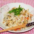 炊飯器de生姜風味のアサリの炊込みご飯