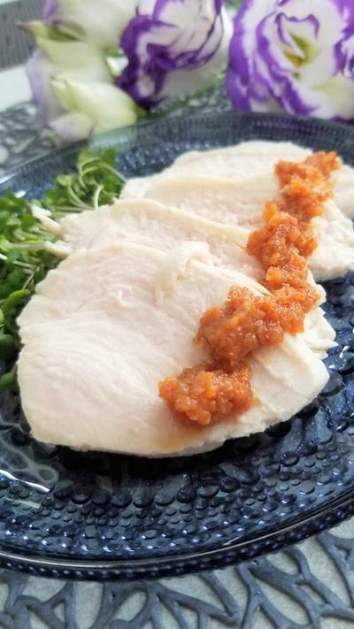 サラダチキンで簡単つまみ★麻辣味噌