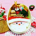 クリスマス平面サンタさん弁当こんにちは今日は時間がなくて平面サンタさんカニカマと... by とまとママさん