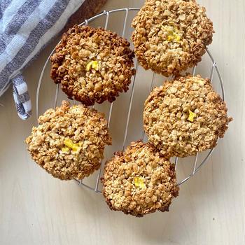 【レシピ】オートミールdeザクザク!パイナップルクッキー#砂糖不使用