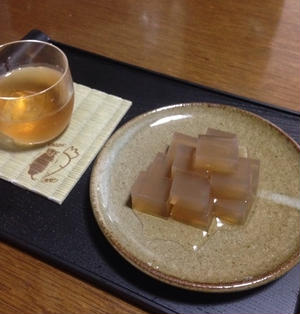 ☆*:.。. 麦茶の寒天 .。.:*☆