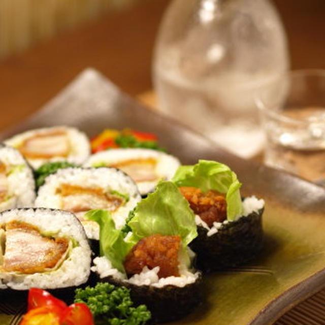コンビニ素材で作るチキンの太巻き寿司