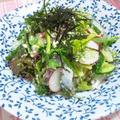 秋刀魚とカッテージチーズの山椒風味サラダ