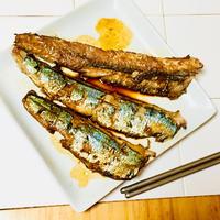 簡単おつまみ♪秋刀魚のポン酢ソテー♡