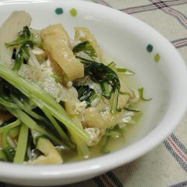 ☆水菜と薄上げ炊いたん☆