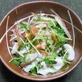 ヒラメと香味野菜のぽん酢和え