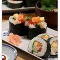 彩りあざやか海鮮太巻き寿司*恵方巻き