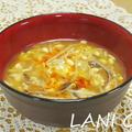 豆もやし酸辣湯スープ